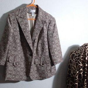 20W brown and cream blazer jacket
